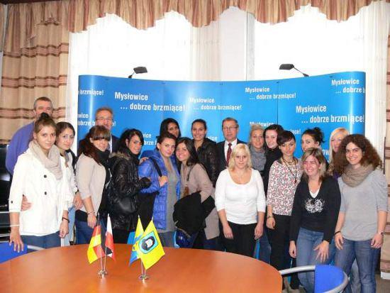 Niemiecka młodzież zwiedziła Urząd Miasta