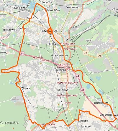 Mysłowice - plan miasta