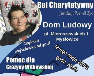 Bal Charytatywny dla Grażyny Witkowskiej