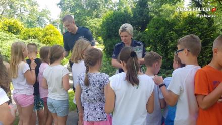 W Mysłowicach uczniowie zdawali na kartę rowerową pod okiem policjantów
