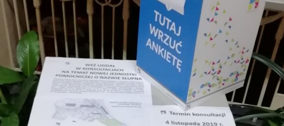 Konsultacje społeczne w sprawie utworzenia nowej jednostki pomocniczej o nazwie Słupna