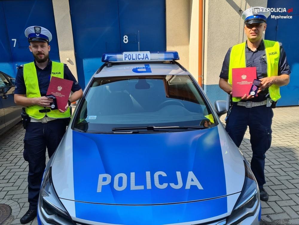 Mysłowiccy policjanci uhonorowani odznaką im. podkomisarza Policji Andrzeja Struja