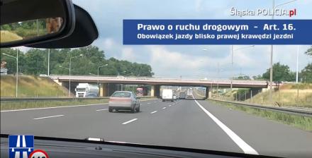 """""""Kierowca ekstraklasa trzyma się prawego pasa"""" - akcja Policji"""