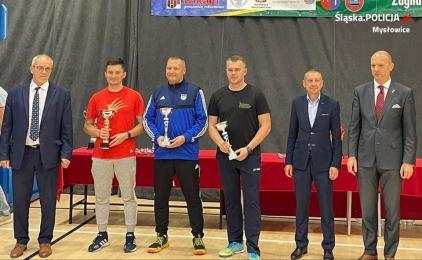 Mysłowicki policjant podwójnym Mistrzem Polski w badmintonie